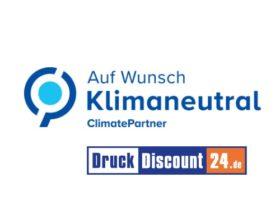 Umweltfreundlich und klimaneutral drucken auf DruckDiscount24.de